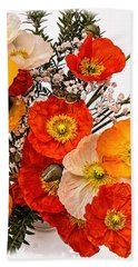 Stunning Vibrant Yellow Orange Poppies  Bath Towel