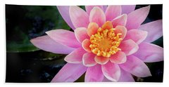 Stunning Water Lily Bath Towel