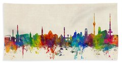 Stuttgart Germany Skyline Bath Towel
