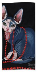 Stylish Sphynx Bath Towel