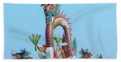 Suan Sawan Golden Dancing Dragon Dthns0144 Bath Towel