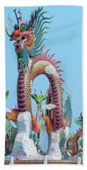 Bath Towel featuring the photograph Suan Sawan Golden Dancing Dragon Dthns0144 by Gerry Gantt