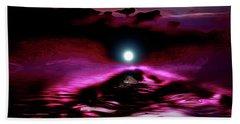 Sublunary Ocean Hand Towel by Elaine Hunter