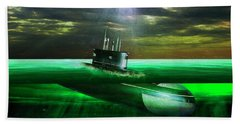 Hand Towel featuring the painting Submarine by Michael Cleere