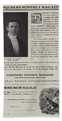 Subscription Form For Conjurers Monthly Magazine, Editor In Chief Harry Houdini, Circa 1906 Hand Towel