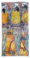 Subtle Harmony Hand Towel by Leela Payne