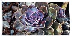 Succulent Plant Poetry Bath Towel