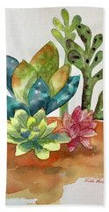 Succulents Bath Towel