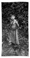 Bath Towel featuring the photograph Sucua Kids 898 by Al Bourassa