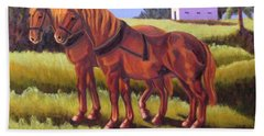 Suffolk Punch Day Is Done Hand Towel