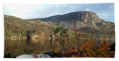 Hand Towel featuring the photograph Sugarloaf Hill In Autumn by Barbara Griffin