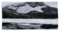 Hand Towel featuring the photograph Sugarloaf Hill Reflections In Winter by Barbara Griffin