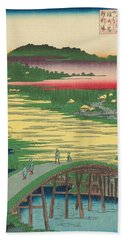 Sugatami Bridge, Omokage Bridge, Jariba At Takata Hand Towel