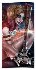 Suicide Harley Hand Towel by Pete Tapang