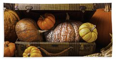 Suitcase Full Of Pumpkins Bath Towel
