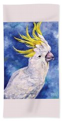 Sulphur-crested Cockatoo Bath Towel