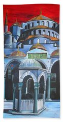Sultan Ahmed Mosque Istanbul Hand Towel by Tracey Harrington-Simpson