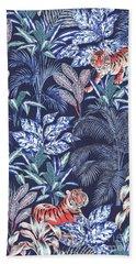 Sumatran Tiger, Blue Bath Towel