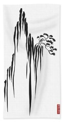 Sumi-e - Bonsai - One Hand Towel