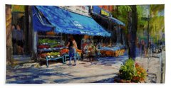 Summer Afternoon, Columbus Avenue Hand Towel