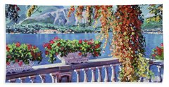 Summer At Lake Como Hand Towel