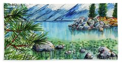 Summer At Lake Tahoe Bath Towel by Terry Banderas