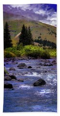 Summer At The Animas River Bath Towel by Ellen Heaverlo