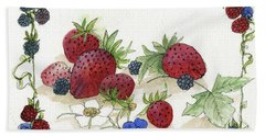 Summer Berries Hand Towel
