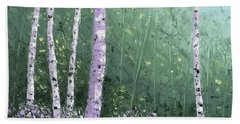 Summer Birch Trees Bath Towel