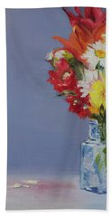 Hand Towel featuring the painting Summer Bouquet by Jane Autry