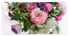 Bath Towel featuring the photograph Summer Bouquet by Louise Kumpf