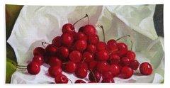 Summer Cherries Bath Towel