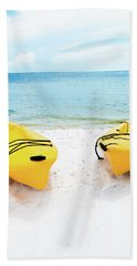 Bath Towel featuring the photograph Summer Colors On The Beach by Shelby Young