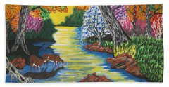 Summer  Deer Crossing Bath Towel