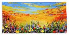 Bath Towel featuring the painting Summer Dream by Teresa Wegrzyn