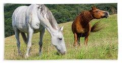 Summer Evening For Horses Bath Towel