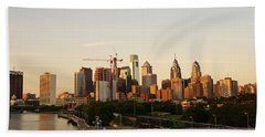 Summer Evening In Philadelphia Hand Towel by Ed Sweeney