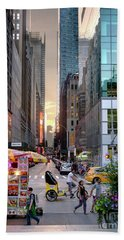 Summer Evening, New York City  -17705-17711 Bath Towel