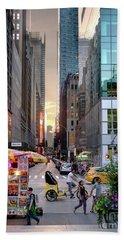 Summer Evening, New York City  -17705-17711 Bath Towel by John Bald