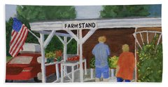 Summer Farm Stand Hand Towel