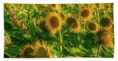 Summer Field Of Sunflowers Hand Towel