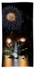 Summer Fireworks I Bath Towel