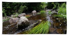Summer Flow Of Water Near Rangeley Maine  -63322 Bath Towel