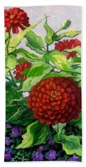 Summer Flowers 3 Hand Towel by Jeanette Jarmon
