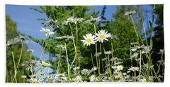 Bath Towel featuring the photograph Summer Flowers by Kennerth and Birgitta Kullman