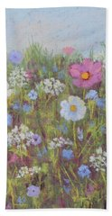 Summer Flowers Bath Towel by Nancy Jolley