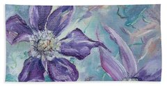 Hand Towel featuring the painting Summer Flowers No. 1 by Ryn Shell