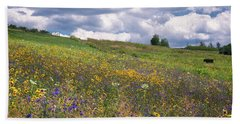 Bath Towel featuring the photograph Summer Flowers by Tom Singleton