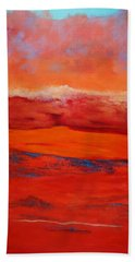 Hand Towel featuring the painting Summer Heat 12 by M Diane Bonaparte