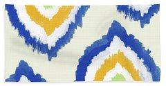 Summer Ikat- Art By Linda Woods Hand Towel